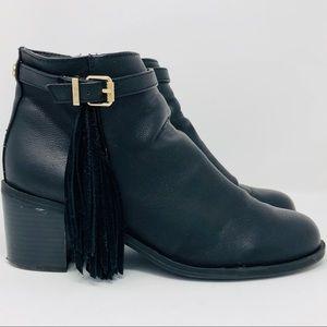CIRCUS SAM EDELMAN Jolie Black Leather Ankle Boots